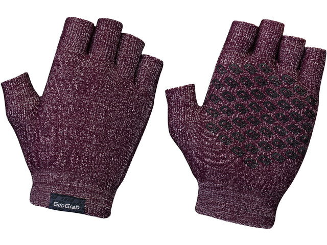 GripGrab Freedom Gants Cyclisme Tricot, dark red